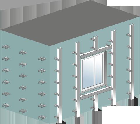 Монтаж фасадных панелей Стенолит