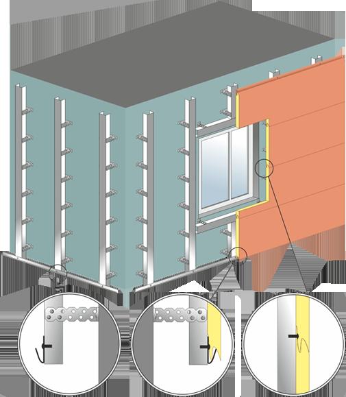 Фасадные панели стенолит - монтаж